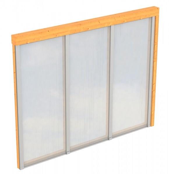 Skan Holz Polycarbonat-Seitenwand 305 x 200 cm, für Douglasien-Terrassenüberdachungen