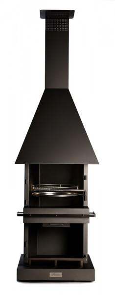 Firestar Edelstahl Grillkamin / Gartenkamin DN 700 Cube Classic, 75 x 75 cm