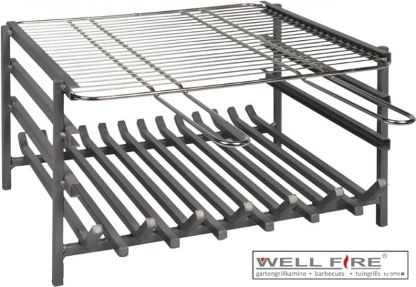 Wellfire Grilleinsatz inkl. Feuer- und Grillrost für Modell Landau