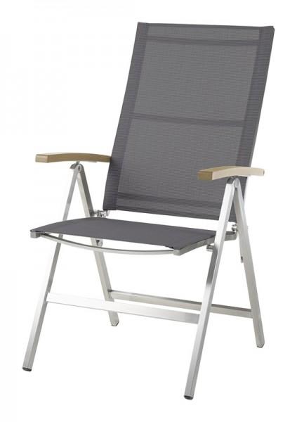 Diamond Garden Hochlehner Monaco, Edelstahl/DiGaLan®-Textilene, grau/schwarz