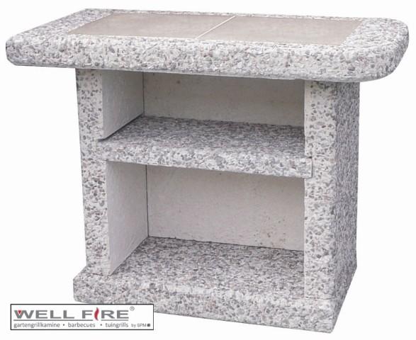 Wellfire Beistelltisch Toskana grau/weiß