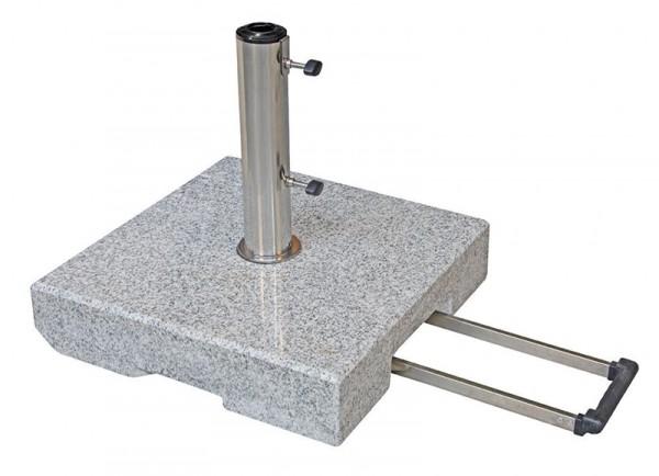 Doppler Active Schirmständer/Trolley-Granitsockel, 40 kg mit Zuggriff, bis 60 mm ø