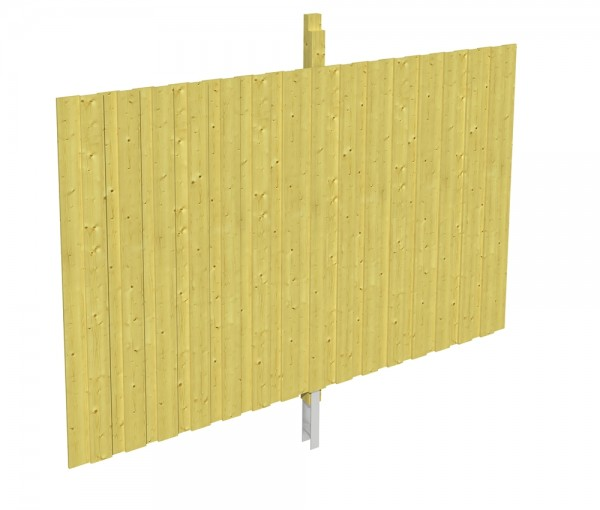 Skan Holz Rückwand 291 x 200 cm, Deckelschalung, imprägniertes Nadelholz