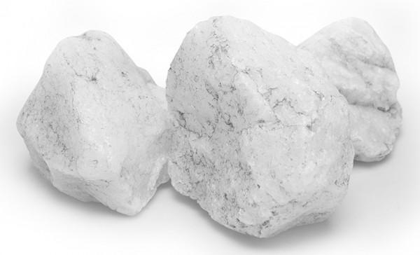Gabionensteine / Bruchsteine Kristallquarz, Körnung 60-120 mm, weiß