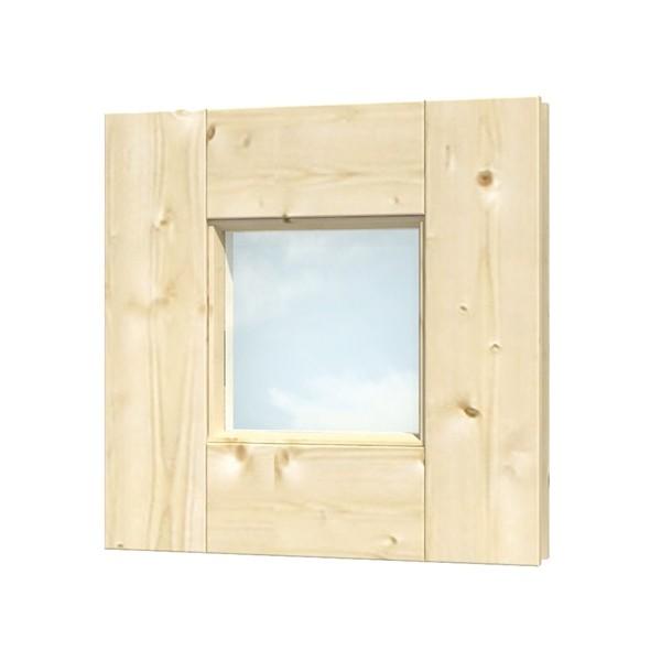 Skan Holz Fensterelement quadratisch 40 x 40 cm