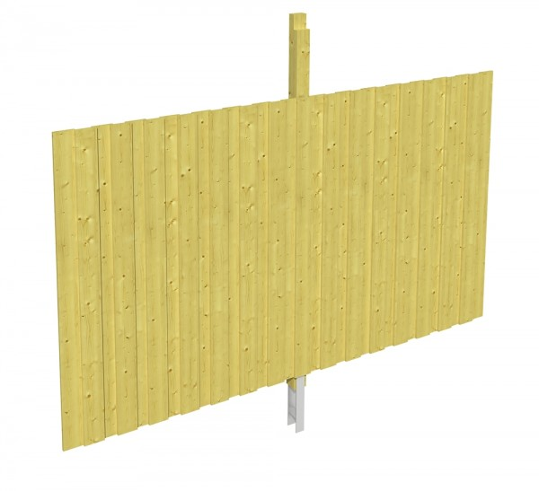 Skan Holz Rückwand 291 x 180 cm, Deckelschalung, imprägniertes Nadelholz