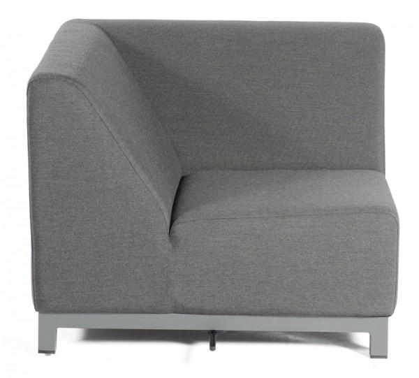 Sonnenpartner Lounge-Eckmodul Solitaire, Aluminium / Outdoor-Textil anthrazit, inkl. Kissen