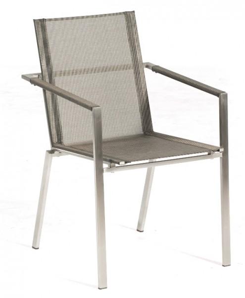Sonnenpartner Stapelsessel Platinum Edelstahl, metallic-grau