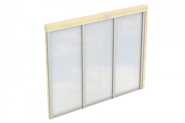 Skan Holz Polycarbonat-Seitenwand 255 x 200 cm, für Wandanbau-Leimholz-Terrassenüberdachungen