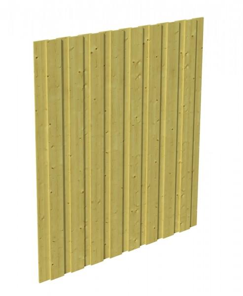 Skan Holz Seitenwand 141 x 220 cm, Deckelschalung, imprägniertes Nadelholz