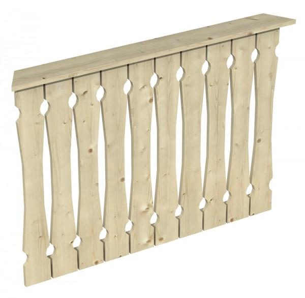 Skan Holz Brüstung 120 x 96 cm, Balkonschalung, für Pavillon Nancy Größe 1
