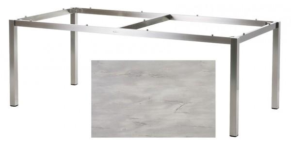 Diamond Garden Tisch San Marino, Edelstahl/Nautic Oak, 200 x 100 cm