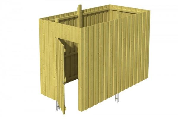 Skan Holz Abstellraum A1, impr. Nadelholz, Deckelschalung, 314 x 164 cm