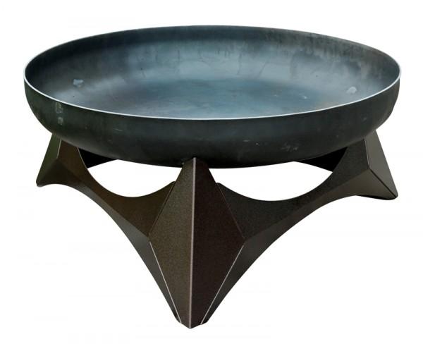 SvenskaV Design Feuerschale ARKA, Größe L, Stahl, Unterbau kupferfarbig pulverbeschichtet, Ø 45 cm