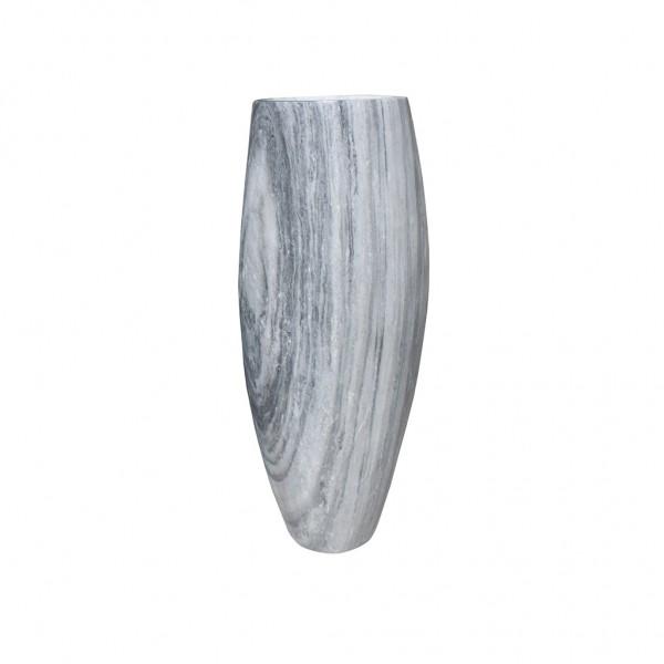 Marmor Vase, weiss-grau