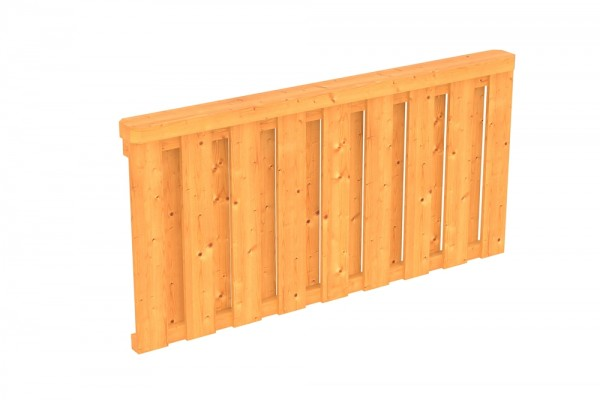 Skan Holz Brüstung 170 x 84 cm, Deckelschalung, für Douglasien-Terrassenüberdachungen
