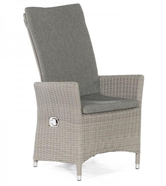 Sonnenpartner Sessel Solares, Kunststoffgeflecht, stone-grey, inkl. Sitz- und Rückenkissen