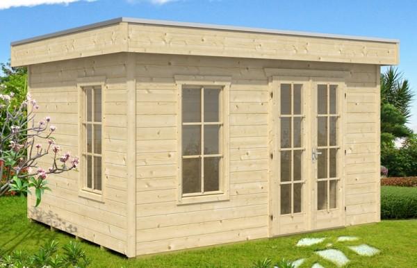Skan Holz Gartenhaus Breda 2, 380 x 380 cm, 28 mm, unbehandelt