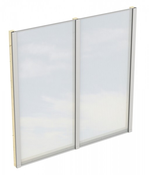Skan Holz Polycarbonat-Seitenwand 193 x 200 cm, für freistehende Leimholz-Terrassenüberdachungen