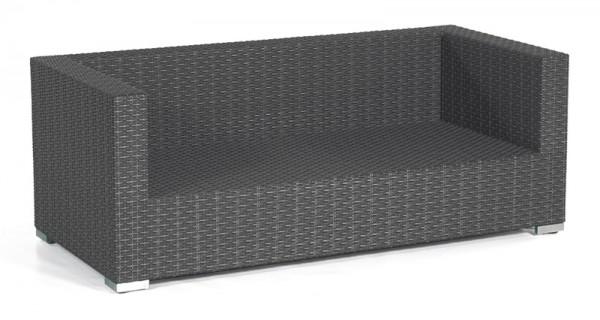 Sonnenpartner Lounge-Sofa Residence, 2-Sitzer, Kunststoffgeflecht, graphit-schwarz