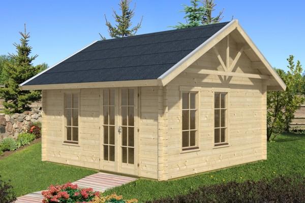 Skan Holz Gartenhaus Toronto 1, 420 x 420 cm, 70plus, unbehandelt