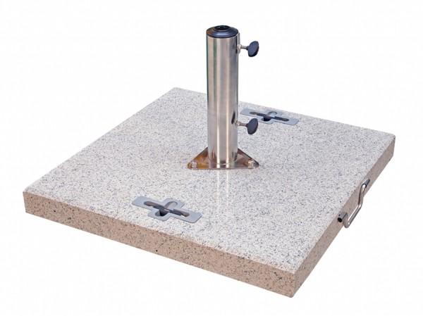 Doppler Schirmständer/Granitsockel, 90 kg, bis 70 mm ø