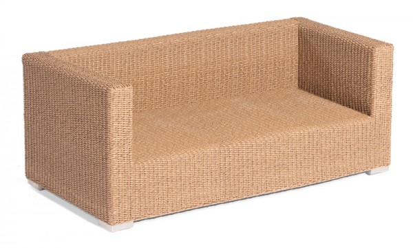 Sonnenpartner Lounge-Sofa Residence, 2-Sitzer, Kunststoffrundgeflecht, Hyazinthoptik
