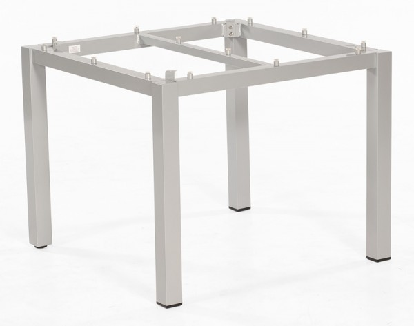 Sonnenpartner Tisch Base, Aluminium silber, 90 x 90 cm