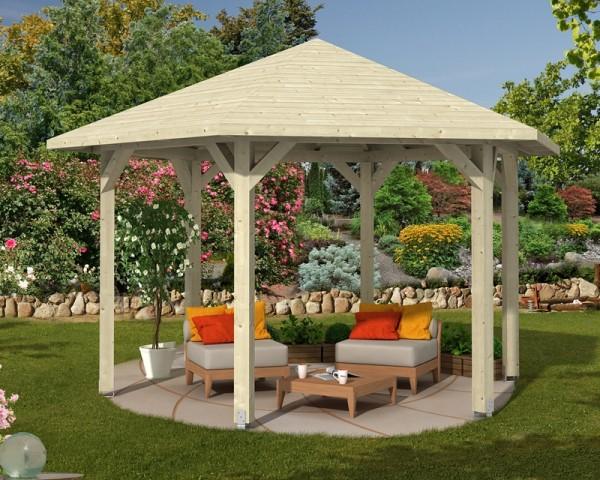 Abgebildeter Fußboden, Gartenmöbel und Dekoration nicht im Lieferumfang enthalten.