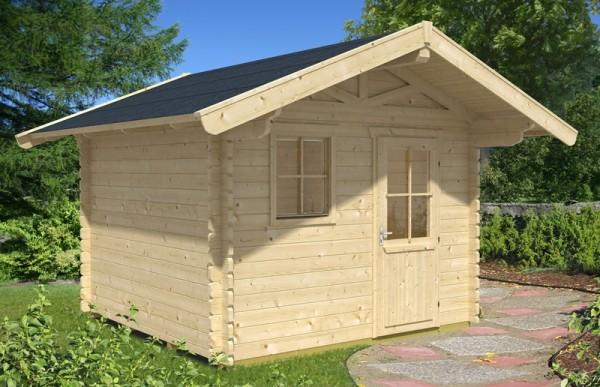 Skan Holz Gartenhaus Arosa 2, 300 x 300 cm, 45 mm, unbehandelt