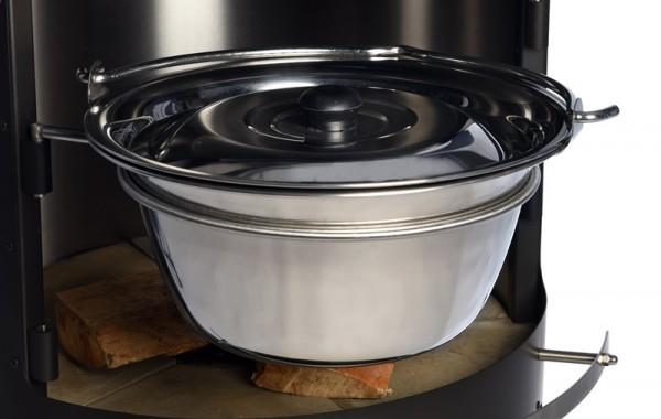 Firestar Gulasch-/Glühweintopf für Grill-/Gartenkamin DN 700 & DN 800 (alle Modelle), Edelstahl