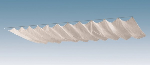 Skan Holz Sonnensegel-Set für Terrassenüberdachungen 541 x 250/239 cm und 557 x 259 cm, weiß