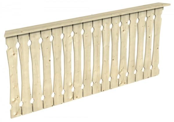 Skan Holz Brüstung 210 x 96 cm, Balkonschalung, für Pavillon Nice Größe 4