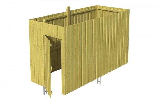 Skan Holz Abstellraum A3, impr. Nadelholz, Deckelschalung, 378 x 164 cm