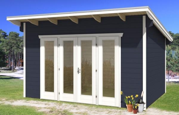 Skan Holz Gartenhaus Ostende 2, 400 x 300 cm, 28 mm, schwedenrot