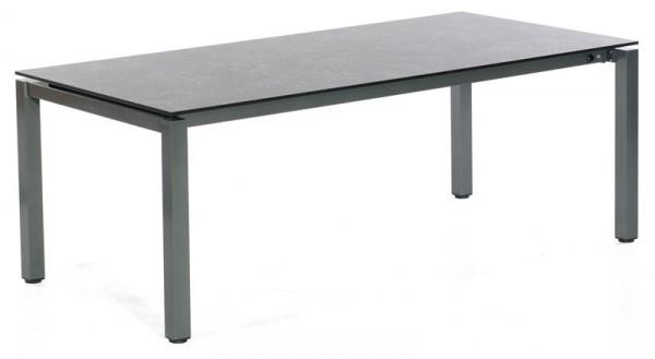 Abbildung zeigt den Tisch mit Tischplatte in Vintageoptik.