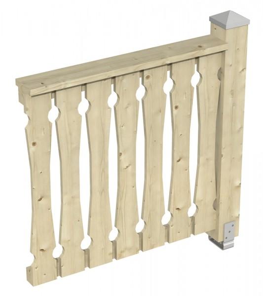 Skan Holz Brüstung 108 x 96 cm, Balkonschalung, für Pavillons Cannes und Orleans alle Größen