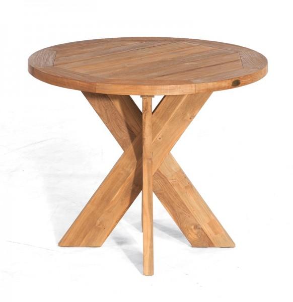 Sonnenpartner Tisch Quantum, Old Teak, Ø 90 cm