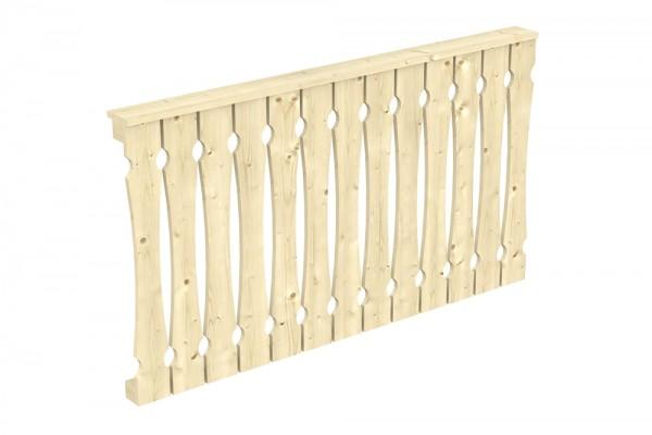 Skan Holz Brüstung 170 x 96 cm, Balkonschalung, für Leimholz-Terrassenüberdachungen