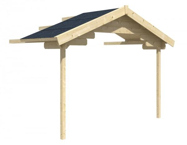 Skan Holz Vordach-Verlängerung 340 x 200 cm, passend für Modell Malaga