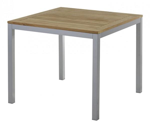 Diamond Garden Tisch Monza, Aluminium/Premium Teak, 90 x 90 cm