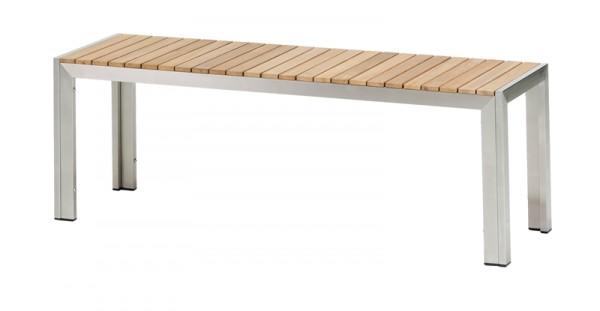 Diamond Garden Bank Capri, Edelstahl/Premium Teak, 130 cm