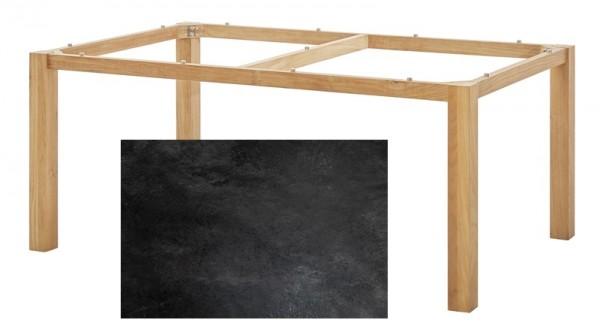 Diamond Garden Tisch San Marino, Premium Teak Natur/Schiefer, 200 x 100 cm