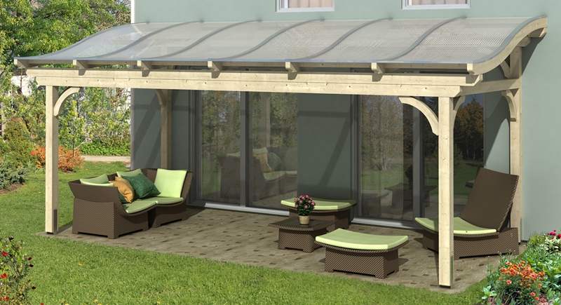 skan holz terrassen berdachung florenz 648 x 289 cm freistehend leimholz doppelstegplatten. Black Bedroom Furniture Sets. Home Design Ideas