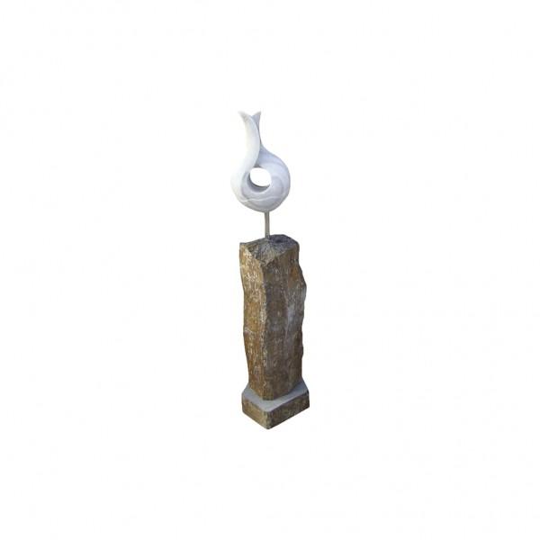 Basalt Statue Model 1, schwarz-braun