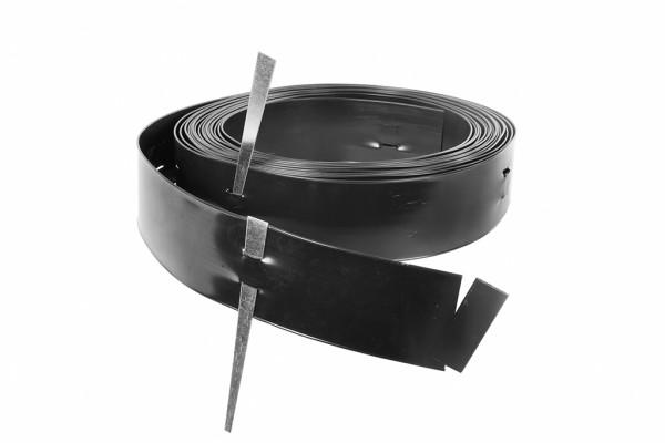 Denver PVC Randbegrenzung, schwarz, L 3050 x H 15,2 cm inkl. Spieße
