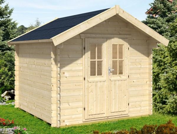 Skan Holz Gartenhaus Palma 2, 250 x 250 cm, 28 mm, unbehandelt