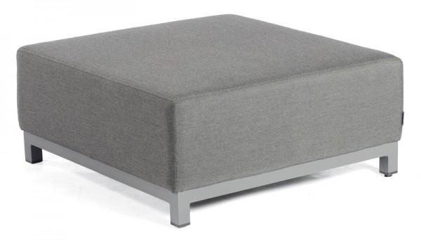Sonnenpartner Lounge-Hocker Solitaire, Aluminium / Outdoor-Textil anthrazit, inkl. Kissen