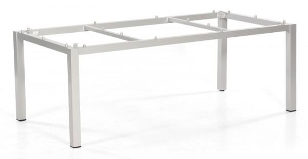 Sonnenpartner Tisch Base, Aluminium silber, 200 x 100 cm