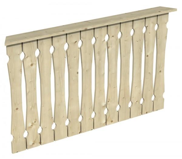 Skan Holz Brüstung 150 x 96 cm, Balkonschalung, für Pavillon Nancy Größe 2 und Pavillon Versailles